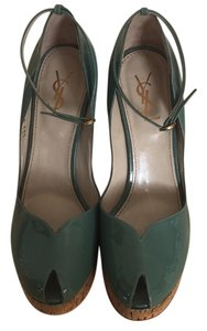 Saint Laurent Green Wedges