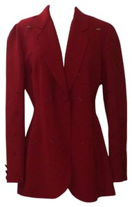 Moschino Red Buttonhole Blazer