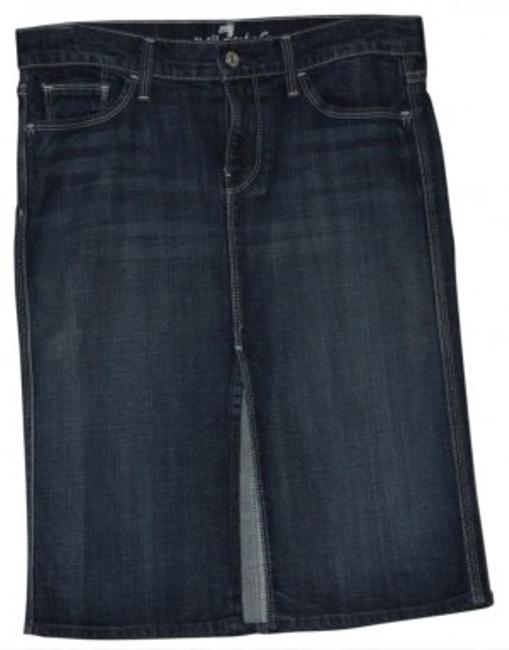 Preload https://img-static.tradesy.com/item/12458/7-for-all-mankind-blue-denim-knee-length-skirt-size-6-s-28-0-0-650-650.jpg