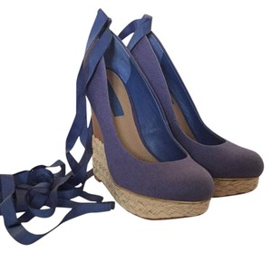 BCBGMAXAZRIA Blue Wedges