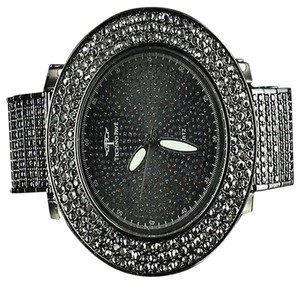 Men Solid Black Iced Out Hip Techno Pave Jojino Rodeo Watch Metal Ice Band Sale