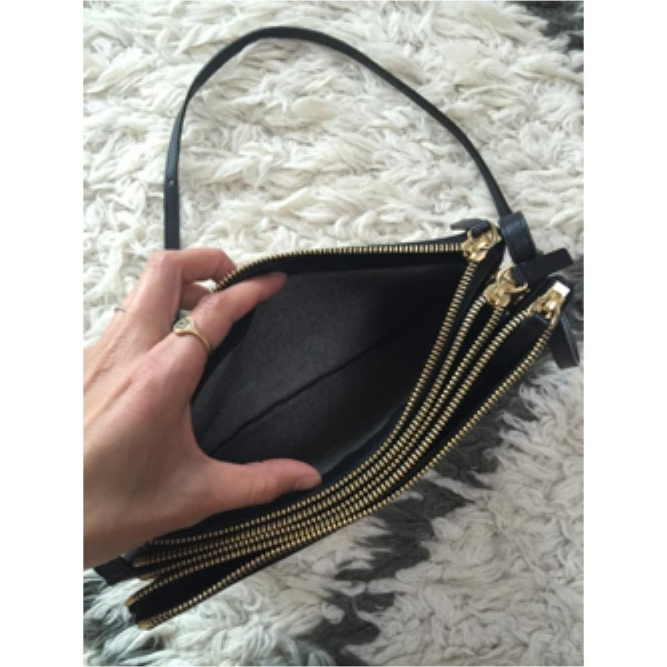 b3e33fb2202a Céline Trio Celebrity Handbag Large Black Leather Cross Body Bag ...