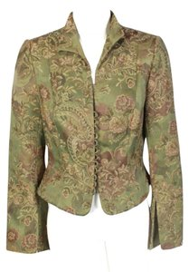 Carmen Marc Valvo Jacket Career Green Blazer
