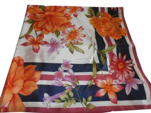 ACCESSORY ST Accessory St New York Floral Fashion Scarf 100% Silk NEW NO TAGS 34X34