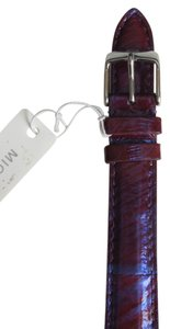 Michele Nwt Michele Multicolored Purple And Blue Snakeskin Leather Watch Band