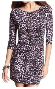 Express short dress Leopard 3/4 Sleeve Night Out on Tradesy