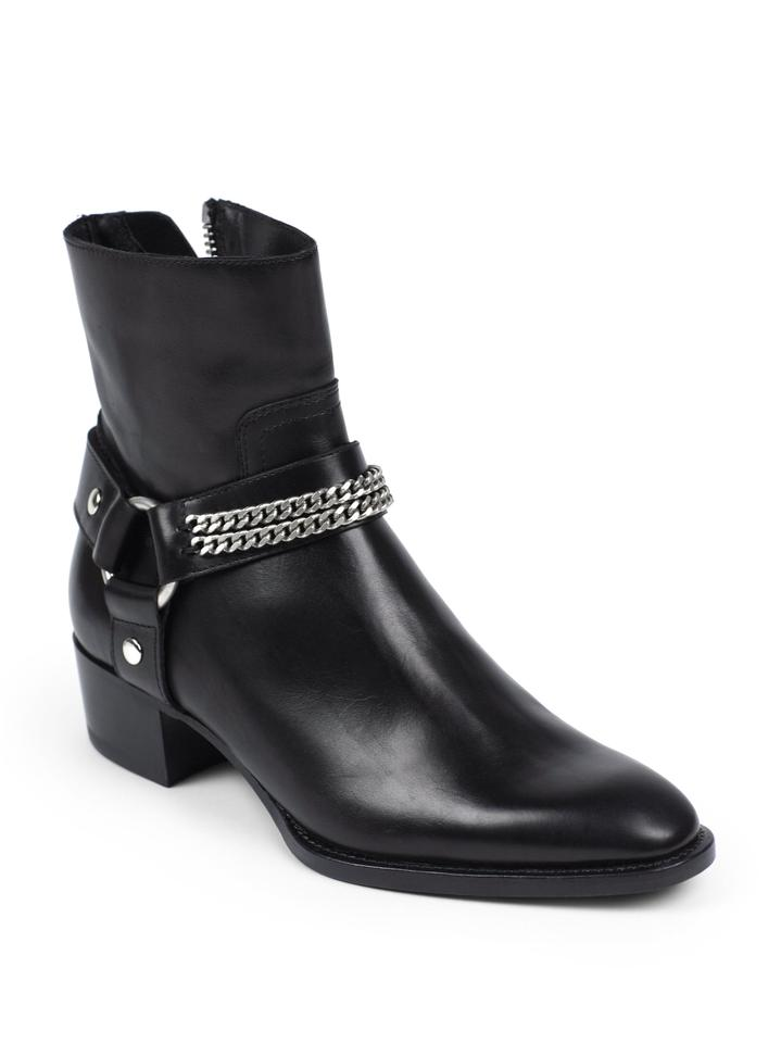 032b3ff5 Saint Laurent Black Women's Rock Chelsea Leather Chain Harness Ankle  Boots/Booties Size US 8 Regular (M, B) 51% off retail