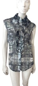 L'Wren Scott Top Leaf Print