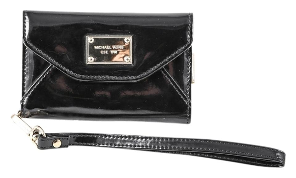 cde35106e70f Michael Kors * Iphone 4s/ 4 Wallet Case In Black Patent Leather ...