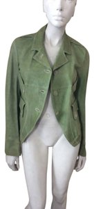 Jil Sander Green Leather Jacket