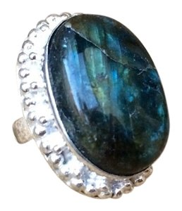 Other Handmade Labradorite & 925 Sterling Silver Ring