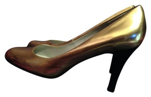 Calvin Klein Metallic Heels Fancy Fun Gold Pumps