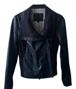 Bod & Christensen Fitted Leather Motorcycle black Leather Jacket