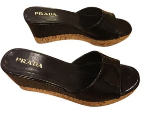 Prada Black patent Sandals