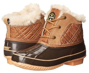 Khombu Duck Bean Fur Rain Snow Brown Boots