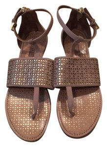 ALAA Beige and gold Sandals