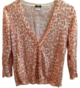J.Crew Lynx Bling Buttons Animal Print 3/4 Length Sleeves Style 25694 Sweater