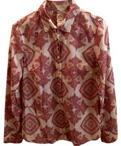 J.Crew Style 24717 Jaipur Blouse Button Down Shirt Multi