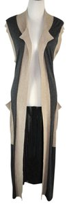 Thomas Wylde Cashmere Long Belted Size M Sleeveless Cardigan