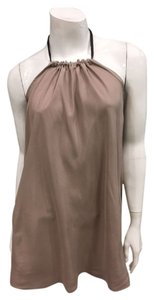 Loro Piana short dress taupe Gold Hardware Silk Luxury Leather on Tradesy