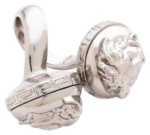 Versace Versace Double Medusa Head Palazzo Wrap Silver Ring