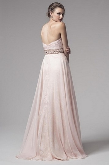 Kari Chang Couture Soft Pink Destination / Mother Of Bride Feminine Bridesmaid/Mob Dress Size 6 (S)