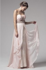 Kari Chang Couture Soft Pink Destination / Mother Of Bride Feminine Bridesmaid/Mob Dress Size 10 (M)