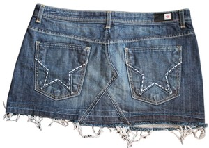 People's Liberation Peoples Mini Skirt Denim