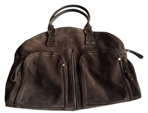 Longchamp Monogram Tote in brown