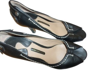 Jones New York Classic Sexy Versatile Black Leather Pumps