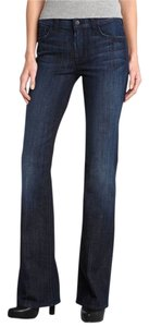7 For All Mankind High Waist Denim Boot Cut Jeans-Dark Rinse