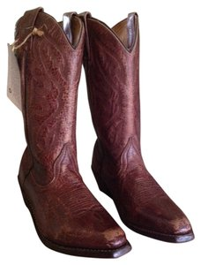 Bed|Stü Leather Western Red Leather Telechapi Oxblood Boots