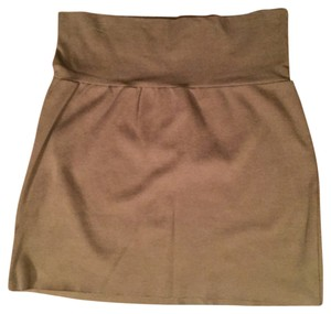 American Apparel Mini Skirt Brown / Green