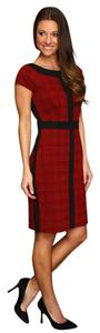 Ellen Tracy short dress Houndstooth Colorblock on Tradesy
