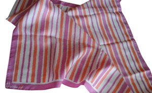 Vera Neumann Vera Orange and Pink Stripe Scarf 26""