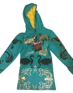 Christian Audigier Limited Edition Crystal Rock Small Foil Sweatshirt