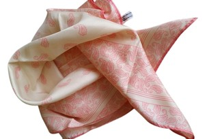 Baar & Beards Baar and Beards Pink and Ivory Poly Scarf, 22""