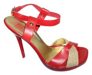 Michael Kors RED WITH KHAKI Pumps