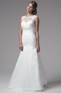 Kari Chang Eternal White Tulle / Lace Kcw1501 Traditional Dress Size 18 (XL, Plus 0x)