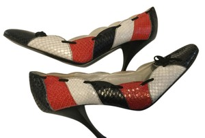 Amalfi All Leather Italian Multi color Pumps