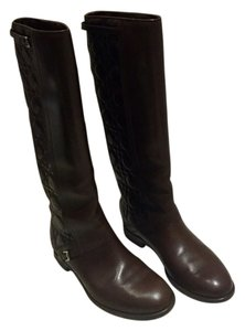 Dior Classic Cannage Pattern Cafe (Chocolate Brown) Boots