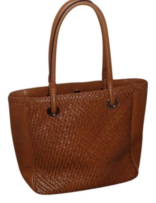 Item - Brown Weave Woven Leather Satchel