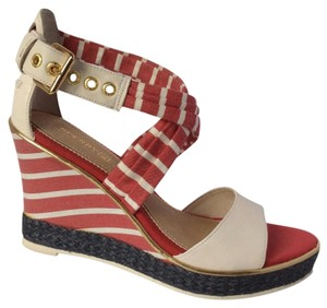 Sperry Ivory/Tango Red Wedges