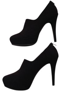 Nine West Suede Hidden Platform Zip Up BLACK Boots