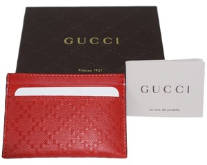 Gucci Gucci Credit Card Case Wallet Diamante Leather - 322190