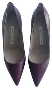 Manolo Blahnik Plum Pumps