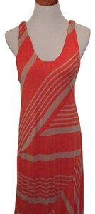 Coral/tan Maxi Dress by Heather