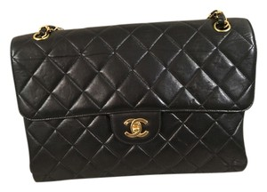 Chanel Double Sided Flap Jumbo Jumbo Vintage Brand New Quilted Leather Double Face Quilted Lambskin Leather Shoulder Bag