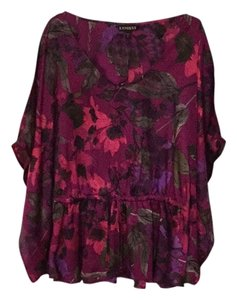 Express Top Purple, Pink, red, green, black and gray