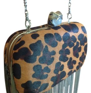 House of Harlow 1960 Calf Hair Leopard Clutch